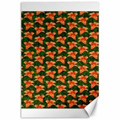 Background Wallpaper Flowers Green Canvas 24  X 36  by Nexatart