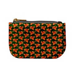 Background Wallpaper Flowers Green Mini Coin Purses by Nexatart