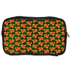 Background Wallpaper Flowers Green Toiletries Bags by Nexatart