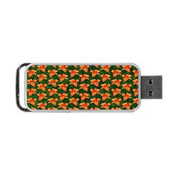 Background Wallpaper Flowers Green Portable Usb Flash (two Sides) by Nexatart