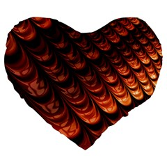 Fractal Mathematics Frax Hd Large 19  Premium Flano Heart Shape Cushions