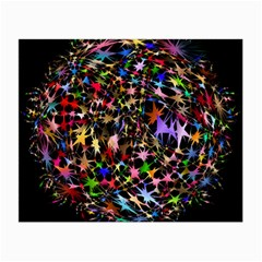 Network Integration Intertwined Small Glasses Cloth (2 Side) by Nexatart