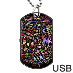 Network Integration Intertwined Dog Tag Usb Flash (two Sides) by Nexatart