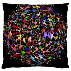 Network Integration Intertwined Large Cushion Case (two Sides) by Nexatart