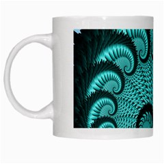 Fractals Texture Abstract White Mugs by Nexatart