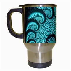 Fractals Texture Abstract Travel Mugs (white) by Nexatart