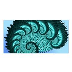 Fractals Texture Abstract Satin Shawl by Nexatart
