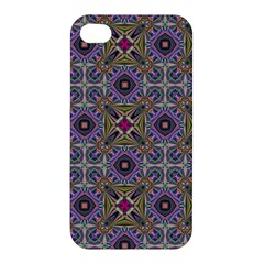 Vintage Abstract Unique Original Apple Iphone 4/4s Hardshell Case by Nexatart