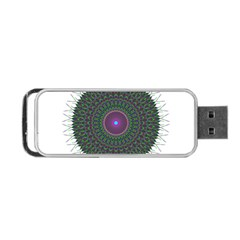 Pattern District Background Portable Usb Flash (two Sides) by Nexatart