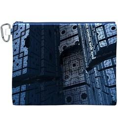 Graphic Design Background Canvas Cosmetic Bag (xxxl) by Nexatart