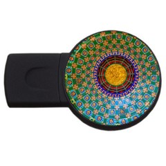 Temple Abstract Ceiling Chinese Usb Flash Drive Round (2 Gb) by Nexatart