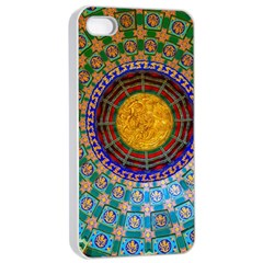 Temple Abstract Ceiling Chinese Apple Iphone 4/4s Seamless Case (white) by Nexatart