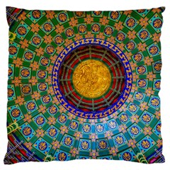 Temple Abstract Ceiling Chinese Large Cushion Case (two Sides) by Nexatart
