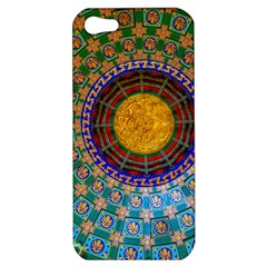 Temple Abstract Ceiling Chinese Apple Iphone 5 Hardshell Case by Nexatart