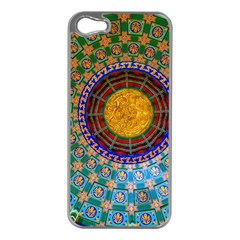 Temple Abstract Ceiling Chinese Apple Iphone 5 Case (silver)