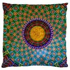 Temple Abstract Ceiling Chinese Large Flano Cushion Case (two Sides) by Nexatart