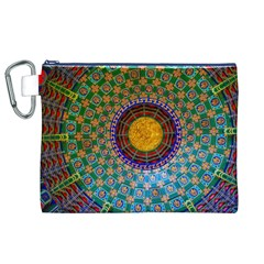 Temple Abstract Ceiling Chinese Canvas Cosmetic Bag (xl)