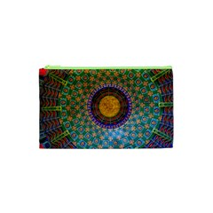 Temple Abstract Ceiling Chinese Cosmetic Bag (xs) by Nexatart