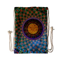 Temple Abstract Ceiling Chinese Drawstring Bag (small) by Nexatart