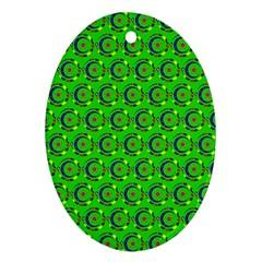 Abstract Art Circles Swirls Stars Ornament (oval)