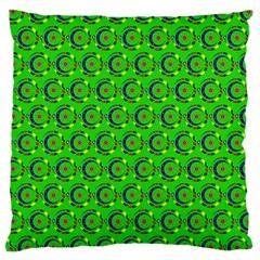 Abstract Art Circles Swirls Stars Large Cushion Case (two Sides) by Nexatart
