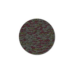 Full Frame Shot Of Abstract Pattern Golf Ball Marker (10 Pack) by Nexatart