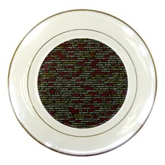Full Frame Shot Of Abstract Pattern Porcelain Plates by Nexatart