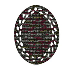 Full Frame Shot Of Abstract Pattern Oval Filigree Ornament (two Sides) by Nexatart