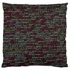 Full Frame Shot Of Abstract Pattern Large Flano Cushion Case (one Side) by Nexatart