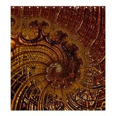 Copper Caramel Swirls Abstract Art Shower Curtain 66  X 72  (large)  by Nexatart