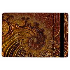 Copper Caramel Swirls Abstract Art Ipad Air 2 Flip by Nexatart