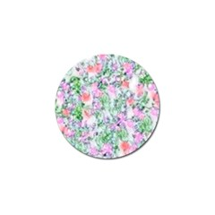 Softly Floral A Golf Ball Marker by MoreColorsinLife