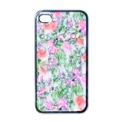 Softly Floral A Apple Iphone 4 Case (black) by MoreColorsinLife