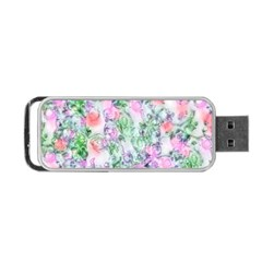 Softly Floral A Portable Usb Flash (one Side) by MoreColorsinLife
