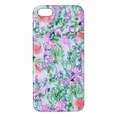 Softly Floral A Apple Iphone 5 Premium Hardshell Case by MoreColorsinLife