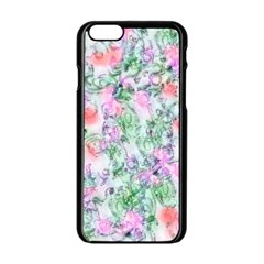 Softly Floral A Apple Iphone 6/6s Black Enamel Case by MoreColorsinLife