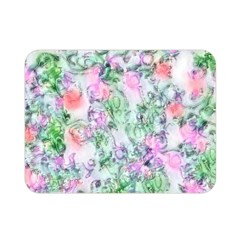 Softly Floral A Double Sided Flano Blanket (mini)  by MoreColorsinLife