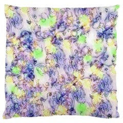 Softly Floral B Large Flano Cushion Case (two Sides) by MoreColorsinLife