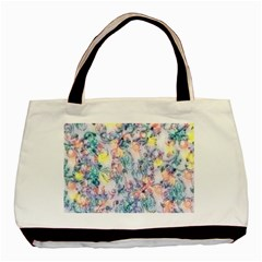 Softly Floral C Basic Tote Bag by MoreColorsinLife