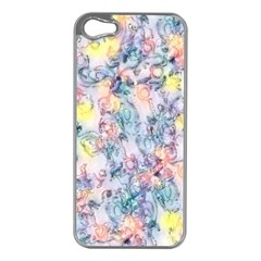 Softly Floral C Apple Iphone 5 Case (silver) by MoreColorsinLife