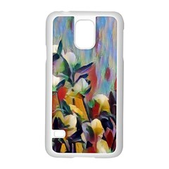 Abstractionism Spring Flowers Samsung Galaxy S5 Case (White)