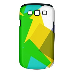 Green yellow shapes  Samsung Galaxy S II i9100 Hardshell Case (PC+Silicone) by LalyLauraFLM