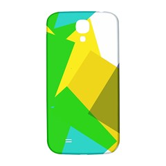 Green yellow shapes  Samsung Note 2 N7100 Hardshell Back Case by LalyLauraFLM