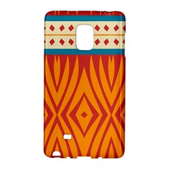 Shapes In Retro Colors Samsung Galaxy Note 4 Leather Folio by LalyLauraFLM