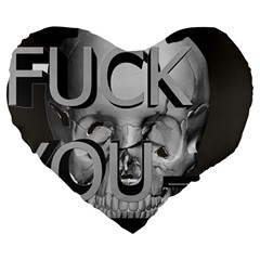 Fuck You Large 19  Premium Heart Shape Cushions by mugebasakart