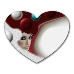 Carnaval Heart Mousepads by mugebasakart