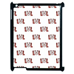 Lol Emoji Graphic Pattern Apple Ipad 2 Case (black) by dflcprints