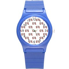 Lol Emoji Graphic Pattern Round Plastic Sport Watch (s) by dflcprints