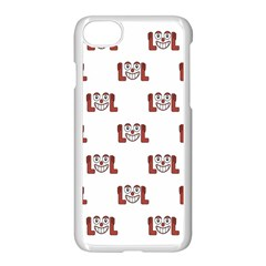 Lol Emoji Graphic Pattern Apple Iphone 7 Seamless Case (white) by dflcprints