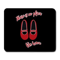 There Is No Place Like Home Large Mousepads by Valentinaart